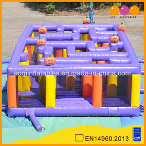 Factory Price Halloween Pumpkin Inflatable Maze Obstacle, Inflatable Labyrinth (AQ16324) pictures & photos