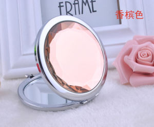 Promotional Advertising Gift -Customized Round Crystal Portable Cosmetic Pocket Mirror pictures & photos