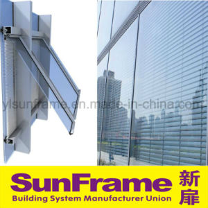 Aluminium Curtain Wall with Blinds pictures & photos