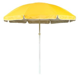 6.5′ Yellow Telescope Adjustable Classic Beach Umbrella