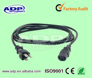 2 Pin/3plug Europe/South Africa AC Computer Power Cod for Laptop Computer Cable pictures & photos