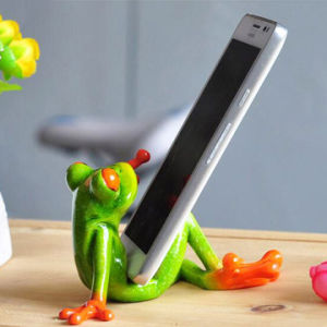 Custom Lovely Resin Frog Mobile Phone Holder for Sale pictures & photos