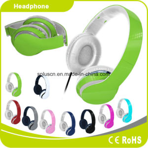Green Colorful Customized Logo Perfect Sound Effect Music Headphone pictures & photos