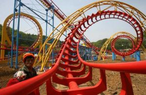 Thrilling Amusement Park Rides 4 Rings Roller Coaster pictures & photos