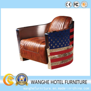 Modern Leather National Flag Design Leisure Dining Chair pictures & photos