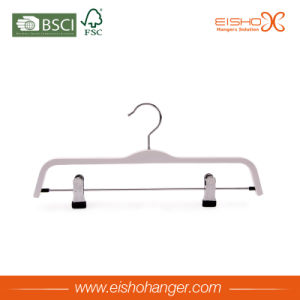White Laminated Pant Hanger with Clips (pH027) pictures & photos