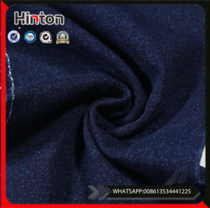 Blue Color Lycra Cotton Spandex Knitting Denim Fabrics for Baby pictures & photos