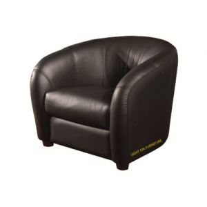 Modern Design Living Room Leisure Fabric Chair Leather Sofa (C008) pictures & photos