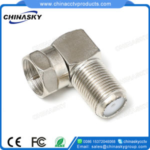 CCTV Female to Male Right Angle Type F Connector (CT5074Z) pictures & photos