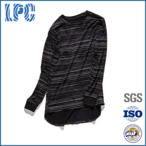 Brand OEM Double-Layer Striped Casual Mens Long Sleeved T-Shirt pictures & photos