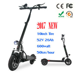 Foldable Cheap 2 Wheels Stand up 600W Electric Mobility Scooter for Adult pictures & photos