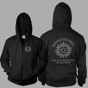 Wholesale Warm Classic Plain Custom Black Sweatshirt (A600)