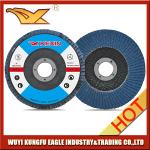 125X22mm Zirconia Alumina Oxide Flap Abrasive Discs with Fibre Glass Cover pictures & photos