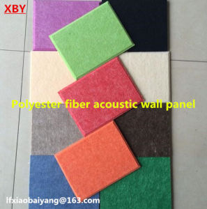 Theater Differnet Colours Polyester Fiber Soundproof Building Material Acoustic Panel Wall Panel Ceiling Panel Decoration Panel pictures & photos