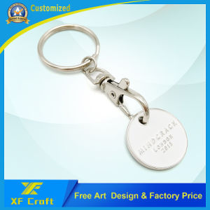 Custom Supermarket Shopping Iron Stamped Trolley Token Coin (XF-TK03) pictures & photos