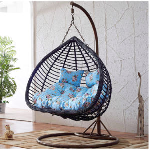 New Garden Furniture Double Swing Outdoor Swing, Rattan Furniture, Rattan Basket (D152A) pictures & photos