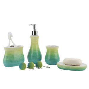 Corrine Gradient Hand Paint Ceramic Bathroom Accessory / Bath Accessory / Bathroom Set pictures & photos
