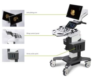 3D 4D Trolly Ultrasound System Color Doppler (AM-X2) pictures & photos