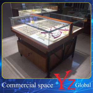 Glasses Display Cabinet (YZ160401) Glasses Showcase Glasses Exhibition Wood Cabinet pictures & photos