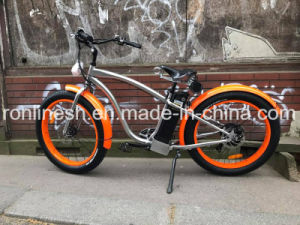 Beach Cruiser 250W/350W/500W Electric 26X4 Fat Tyre Bike/E Fat Tire Bicycle/E Snow Bike/E Fatty Bicycle/E Sand Bike/All Terrain Bicycle W Retro Classic Seat, Ce pictures & photos