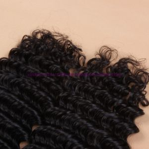 Wholesale 8A Mongolian Deep Wave Virgin Hair with Closure Ear to Ear Lace Frontal Closure with Bundles 2/3 Bundles with Closure pictures & photos