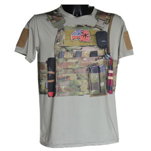Wolf Slaves Tactical Sport T-Shirt Military Python Camo T-Shirt pictures & photos
