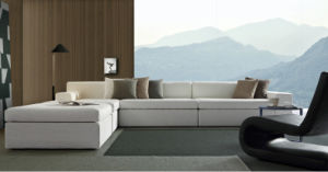 Home Furniture Italy Modern L Shape Sectional Fabric Sofa (corner sofa) pictures & photos