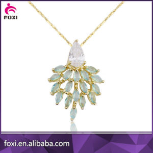 Rhodium Plated White CZ Nice Pendant Necklaces pictures & photos