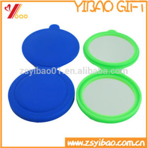 Custom Silicone Make up Mirror Pocket Cosmetic Mirror Manufacturer pictures & photos