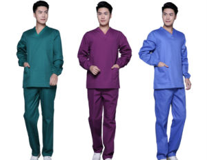 Poly/Cotton Medical Scrub Suit Short Sleeve pictures & photos