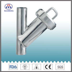 Sanitary Stainless Steel Welded Y Type Strainer (3A-No. NM100107) pictures & photos