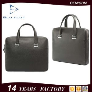 Custom Logo Fashion Bags Genuine Full Grain Leather Briefcase Handbags pictures & photos