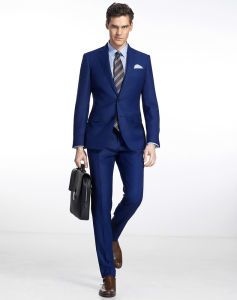 Navy Blue Men Business Work Wear Office Dress Suit pictures & photos