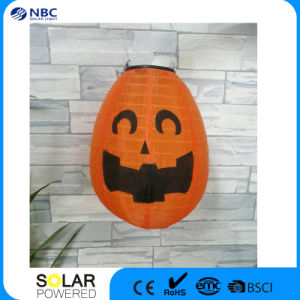Halloween Pumpkin Lantern with Solar Panel pictures & photos