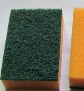 Microfiber Kitchen Cleaning Sponge, Kitchen Sponge Scourer, Kitchen Cleaning Pads pictures & photos