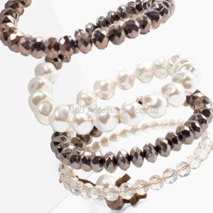Fashion Crystal Imitation Pearl Bracelets for Women Multi Layer Wide Bracelets & Bangles Pulseras Mujer Jewelry pictures & photos