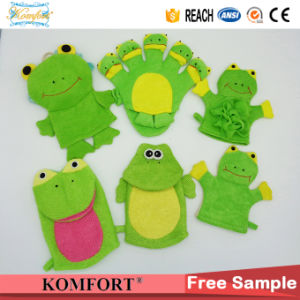 Klb-046 Frog Baby SPA Bath Glove Exfoliating Mitt Animal Frog Hand Puppet pictures & photos
