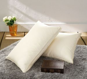 Luxury White Goose Down Pillow with 3.5 Cm Gusset Directly Supplier