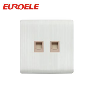 Champagne Gold Color Double Tel Socket /Data Socket pictures & photos