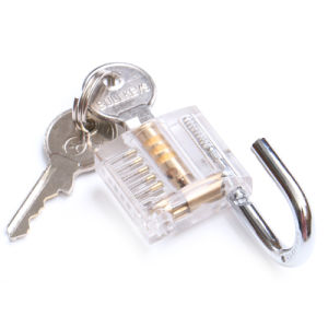 Mini Portable Transparent Acrylic Metal Key Padlock Lock for Travelling Case Bag Safe pictures & photos