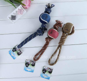 Pet Products Dog Rope Toys with Tennis Ball (KT0002) pictures & photos