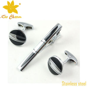 Tieclip-021 316L Stainless Steel Tie Pins and Cufflinks for Man