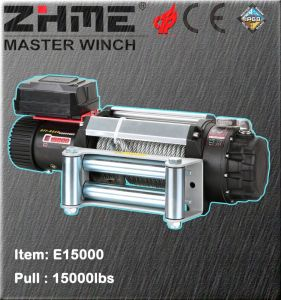 15000lbs Pull Electric Power Resource Winch with Wire Rope pictures & photos