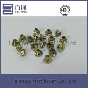 7-4 Yellow Zinc Plated Countersunk Head Fully Tubular Steel Rivet