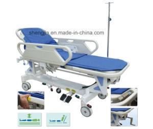 Sjm003 Luxurious Electric Rise-and-Fall Stretcher Cart