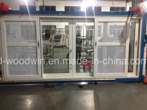 Foshan Woodwin Aluminum Sliding Window with Customized Glass pictures & photos
