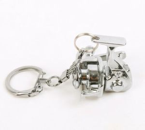 Aluminum Spinning Fishing Reel Keychain pictures & photos