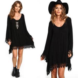 Fashion Lady Black Chiffon Dress (A140) pictures & photos