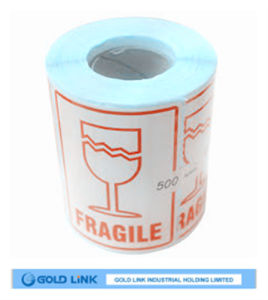 China Made Printing Label Use Fragile Paper Sitcker pictures & photos