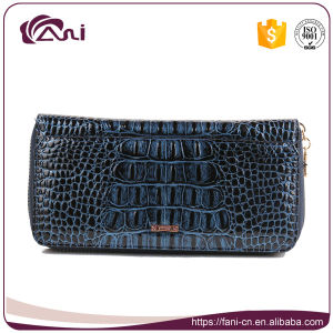 Women Cow Leather Wallet with Crocodile Skin, Custom Leather Wallets pictures & photos